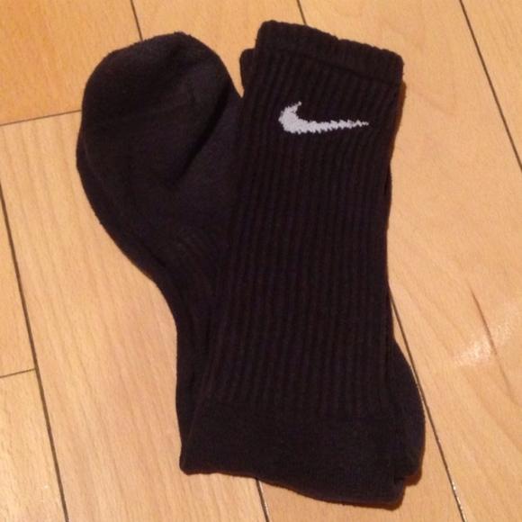 Used Nike Men's Crew Socks Black
